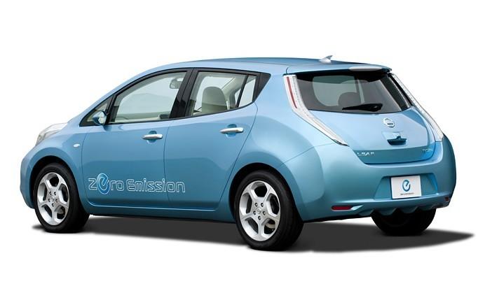 Nissan Leaf Elektrische Auto Op Elektrische Nl